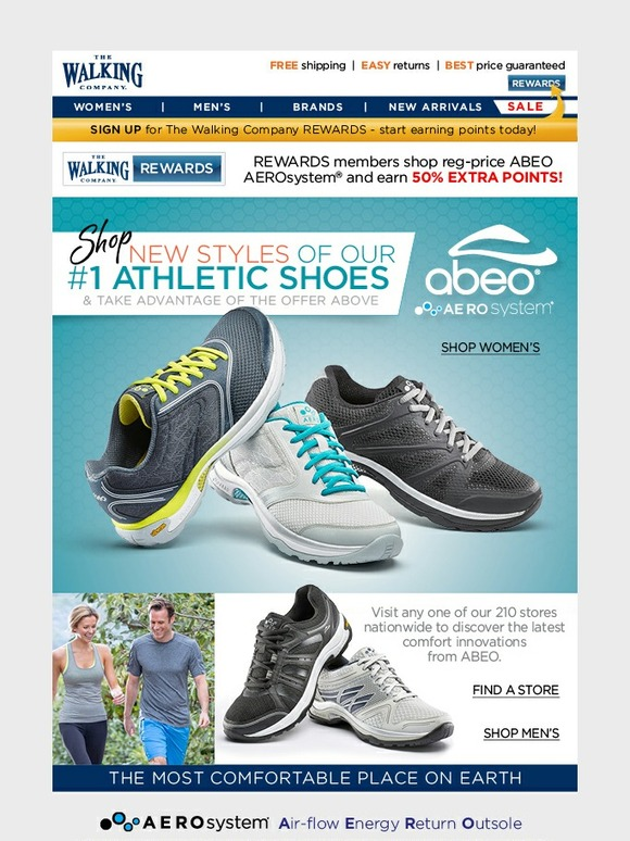 bf8a6e9aed3 The Walking Company: NEW Styles of our #1 Athletic Shoes | Plus, REWARDS  Member Bonus Points Special! | Milled