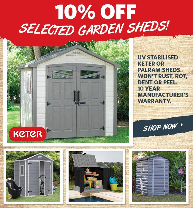 Home Gym In Shed: DealsDirect: 24HR Hot Offers: Upto 25% Off Sheds