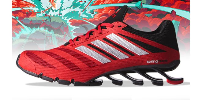 new arrivals 195dc baa3f womens adidas springblade ignite red