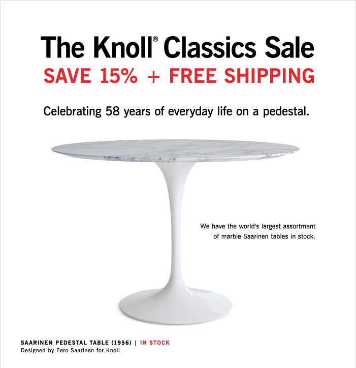 Design Within Reach: Sale: Saarinen Table, Tulip Chair, Womb Chair (+ Free  Ship!) | Milled