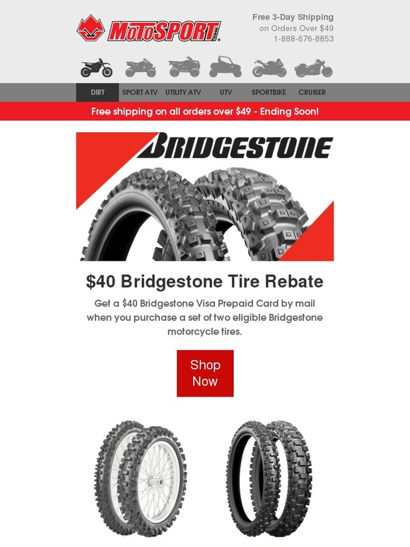 Motosport Get That Rebate 40 From Bridgestone 20 From Dunlop