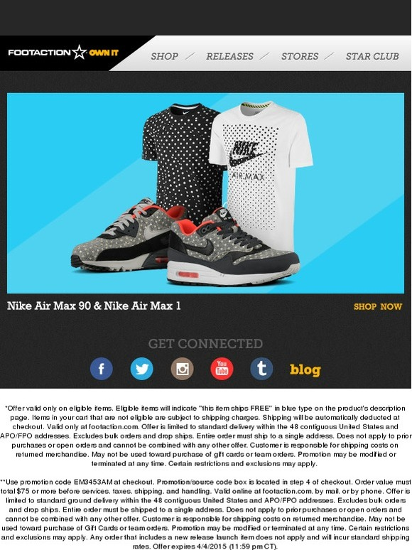 a353267cb28 Footaction   Own IT - Nike Air Max 1 and Air Max 90!
