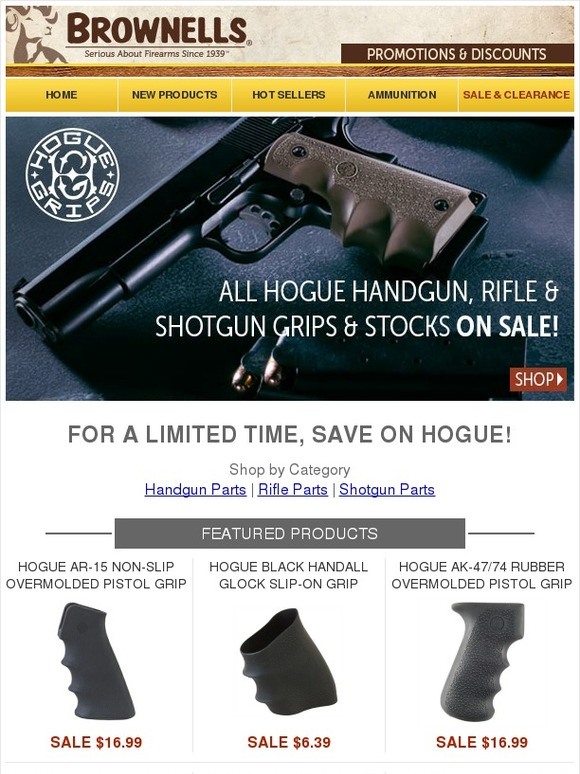 Brownells: Get a Grip on Recoil with Exclusive Savings on