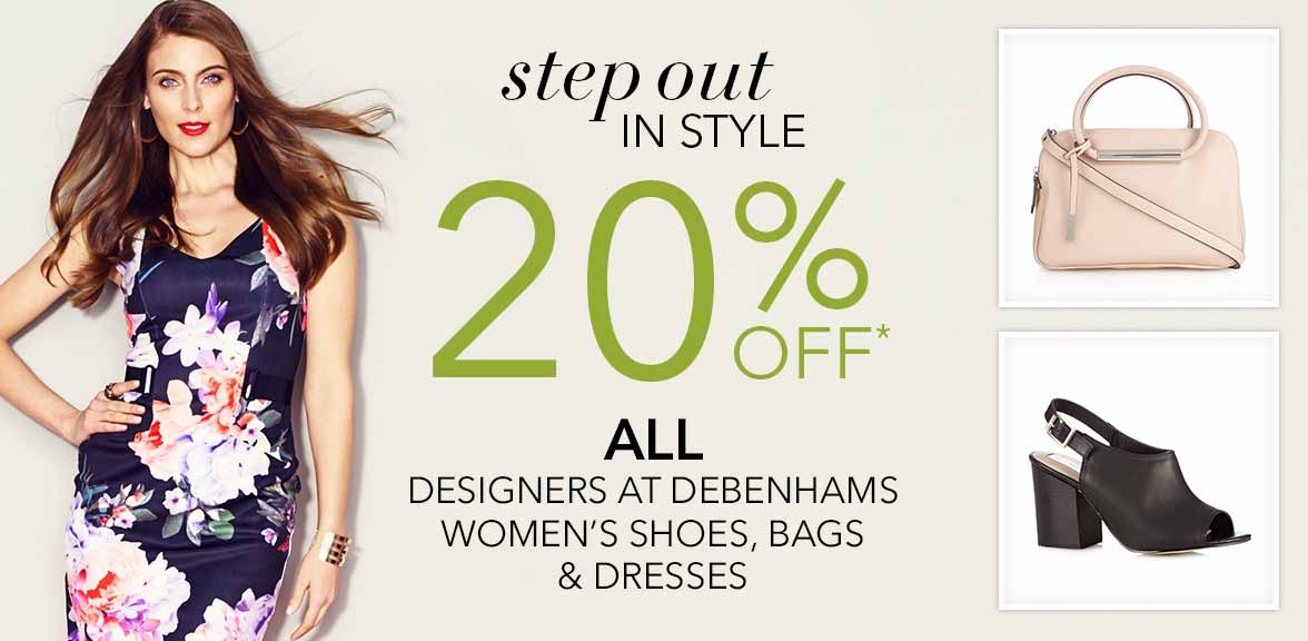 debenhams step out in style 20 off all designers at. Black Bedroom Furniture Sets. Home Design Ideas
