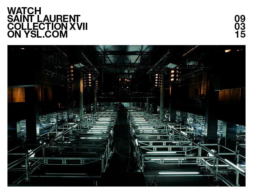 replica ysl handbags - Yves Saint Laurent: Watch The Women's FW 15 Fashion Show / Saint ...