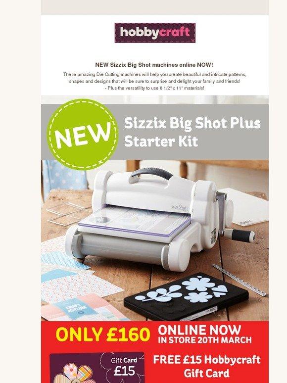 hobbycraft new big shot plus out now milled. Black Bedroom Furniture Sets. Home Design Ideas