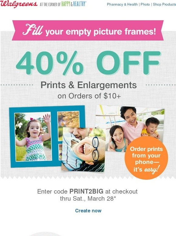 Create custom photo cards at Walgreens. Order and pick up your photo cards same-day! Save on holiday cards, birthday cards, invitations, announcements and angeloppera.cf photo coupon codes, promo codes and the latest deals at Walgreens. Get same day photo pickup! Save on Christmas cards, valentines, invitations, and more.