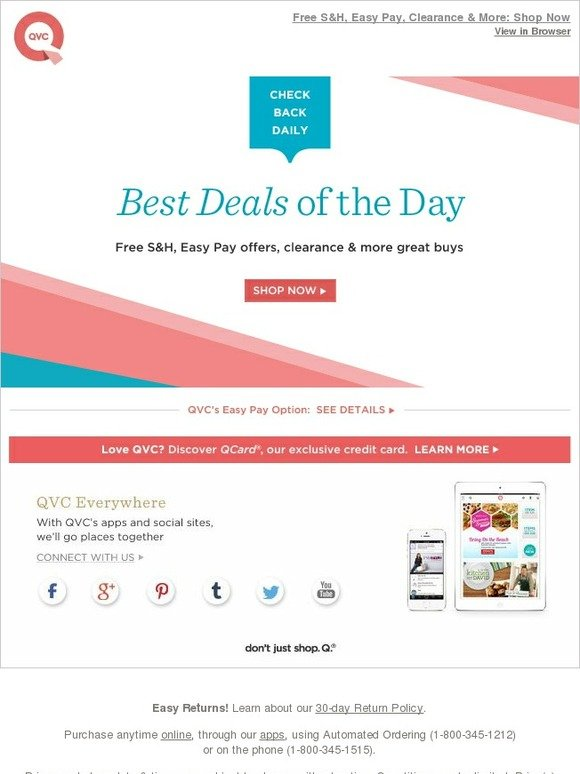Qvc easy pay day 2018 : Print Discount