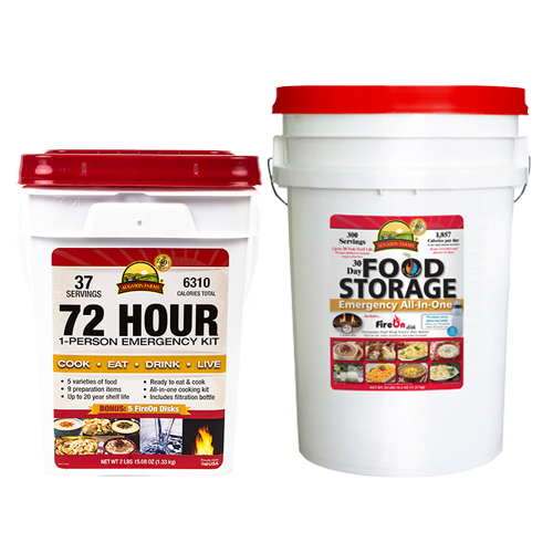 30 Day & 72 Hour 1 Person Emergency Pails