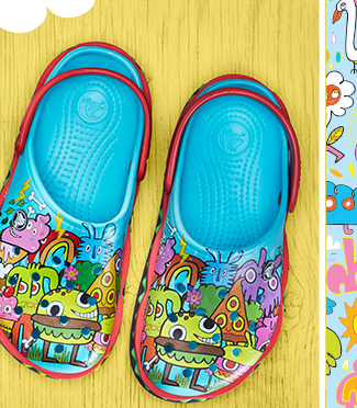 4c2627163ece9 ... special-edition styles by burger Only from Crocs.  150123 burgerman email r-04