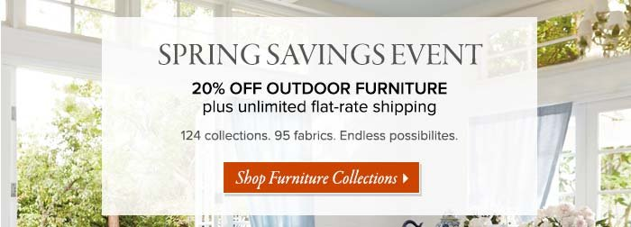Frontgate: Spring Savings Starts Now: 20% Off Outdoor Furniture + Unlimited  Flat Rate Shipping | Milled