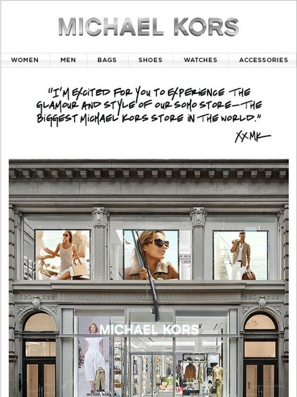 Michael Kors Visit The Biggest Michael Kors Store In The