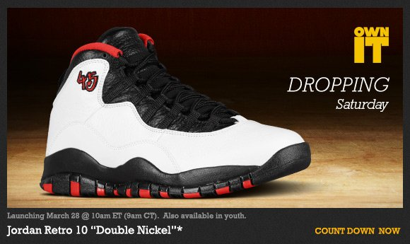 new concept ca8f2 852ca Footaction : Own IT 3.28 - Jordan Retro 10