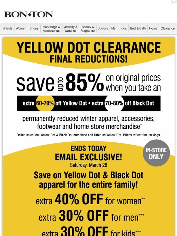 picture regarding Bon Ton Printable Coupon named Bon great deal yellow dot coupon code - How in direction of prepare dinner selfmade fried