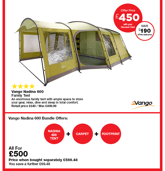 Vango Nadina 600  sc 1 st  Milled & Go Outdoors: Easter tent offer u2013 up to 40% off selected tents ...