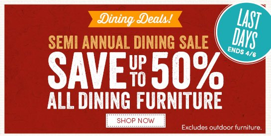 Nice Last Days To Save Up To 50% On Dining Furniture