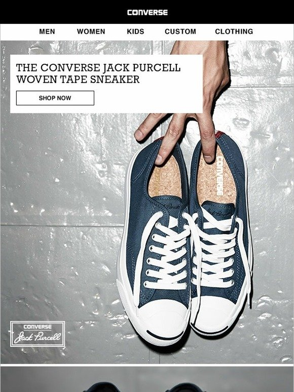 d917329cd78d2c Converse  The Jack Purcell Woven Tape sneaker