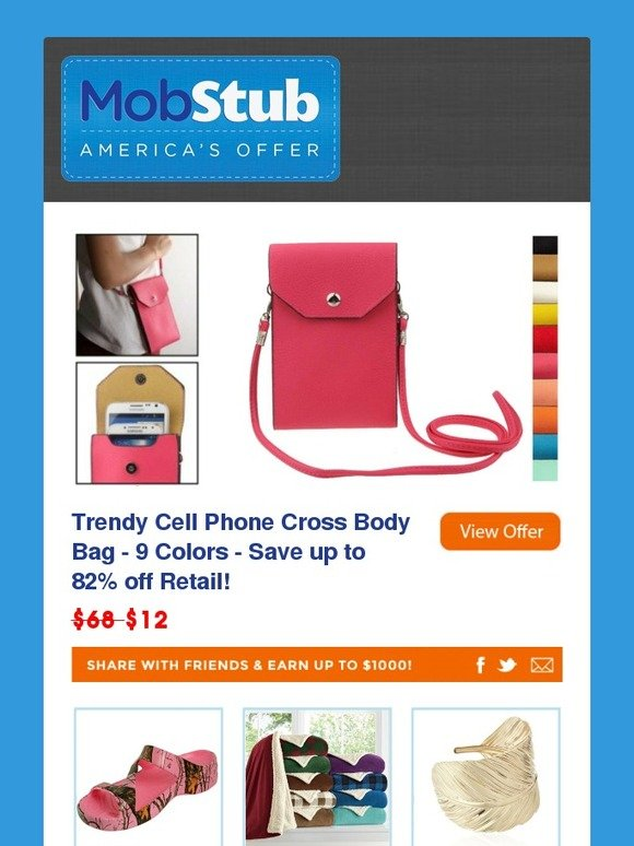 094e9e4801 Mobstub  Trendy Cell Phone Cross Body Bag - Save up to 82% off Retail
