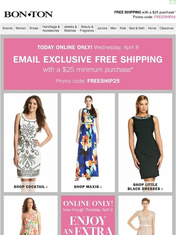 3156bba249a Bonton  30% off dresses starts NOW • Online only!