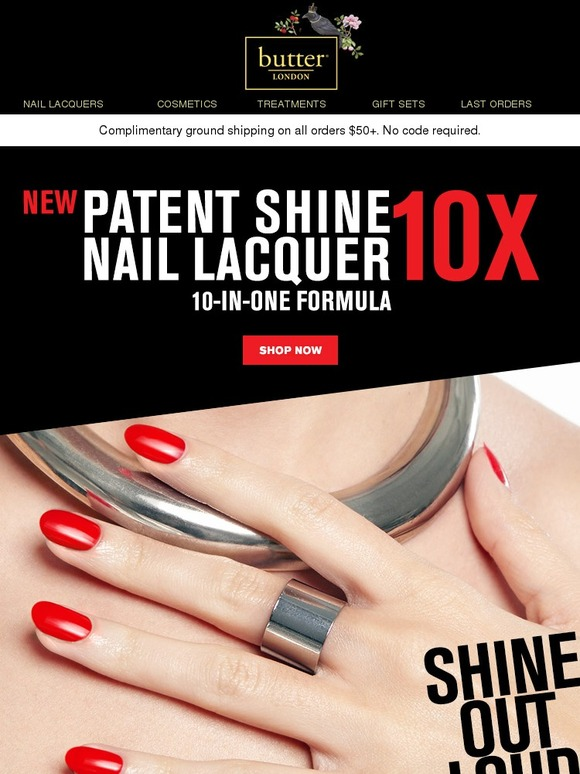Butter London: 10 Reasons to ❤ Patent Shine 10X | Milled