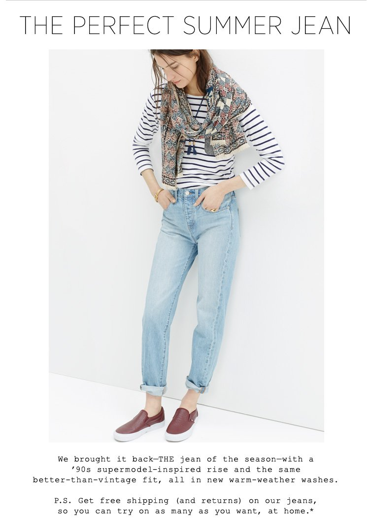 bd2b67edcb6 Madewell  The Perfect Summer Jean is back
