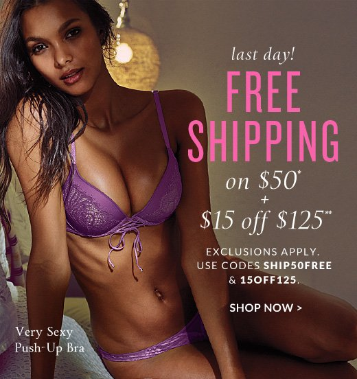Get $50 OFF when you spend $ or more with Victoria Secret coupon or promo code available at altamira.ml Victoria's Secret is inspired by a love for lingerie, and the desire to bring beauty and fantasy into every woman's wardrobe.
