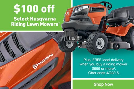 Lowes 100 Off Select Husqvarna Riding Lawn Mowers Milled