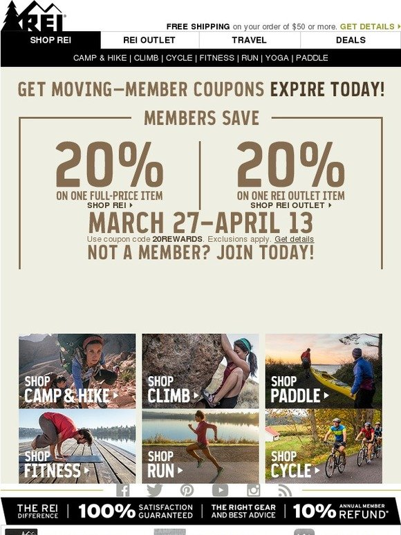 Dec 05,  · Rei Coupon Codes At Rei, they love to get outside and play, and they know first-hand the importance of quality outdoor gear. They stand behind all their products with a % satisfaction guarantee, and they design their own line of award-winning Rei brand gear and clothing.