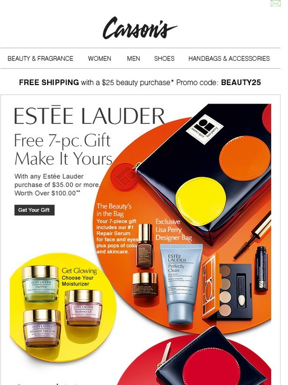 Carson's: Estée Lauder • FREE 7-pc. gift with your Estée Lauder Purchase of $35 or more | Milled