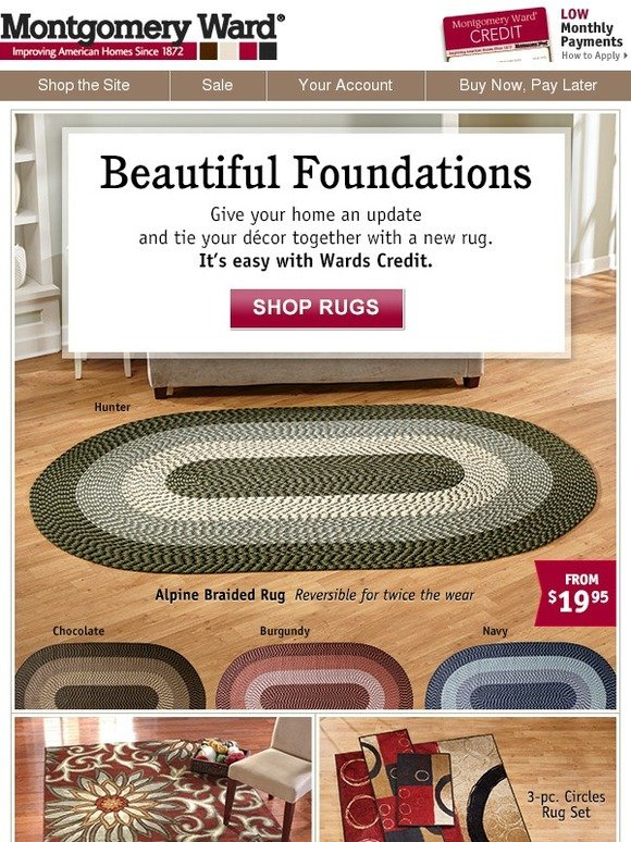 Montgomery Ward Prepare To Be Floored Rugs For Every Room Milled