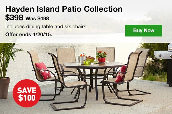 Hayden Island Patio Collection 398 Was 498 Includes Dining Table And Six Chairs Offer Ends