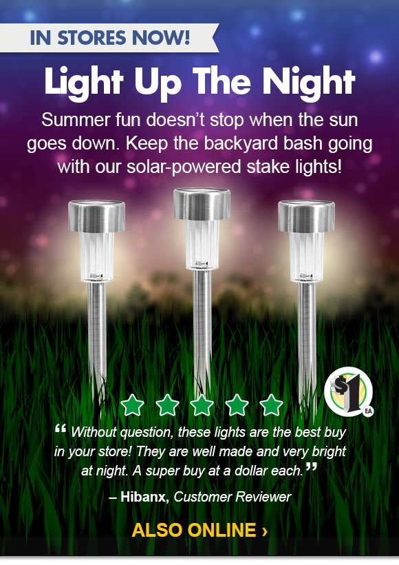 Dollar Tree Glow Now Solar Stake Lights Are Waiting For