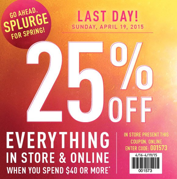 graphic about Rue 21 Coupons Printable titled rue21: Hrs Still left in direction of Hire Your 25% Off Coupon! Milled