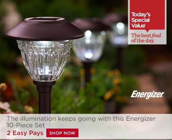 Garden Lights Qvc : Qvc s today special value tuesday april milled