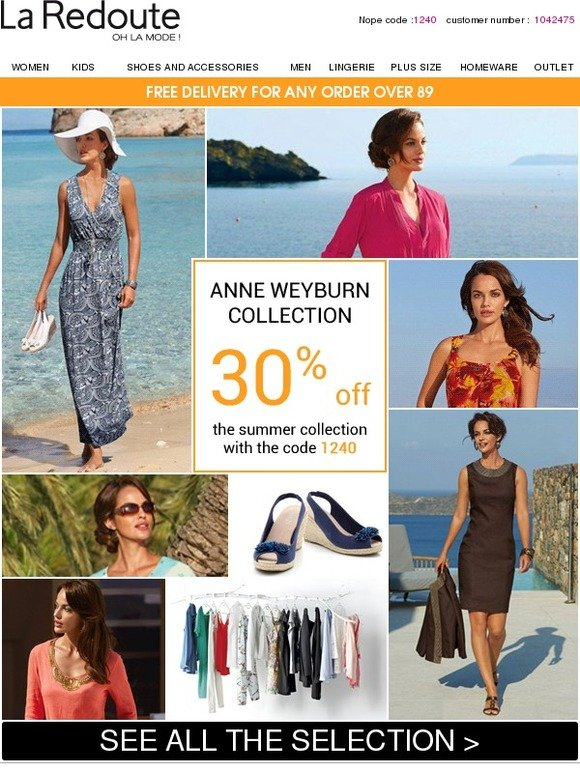 La Redoute Email Newsletters Shop Sales Discounts And