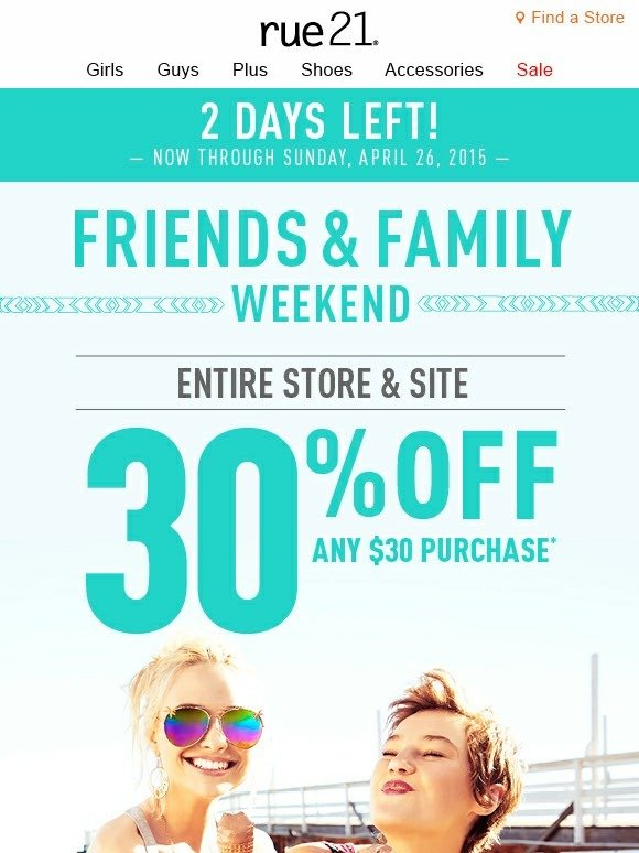Rue 21 coupon codes