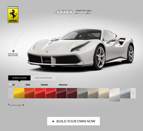 We Are Delighted To Invite You To Discover The Ferrari 488 GTB As Youu0027ve  Never Seen It Before. The New Ferrari Car Configurator Now Makes All The  Colours ...