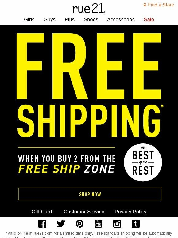 photo about Rue 21 Printable Coupons identified as Rue 21 absolutely free delivery discount coupons - Mystique ice suggestion