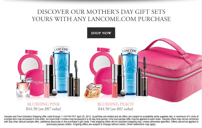 Lancôme: Mother's Day Gift Sets. Limited Quantities Available ...
