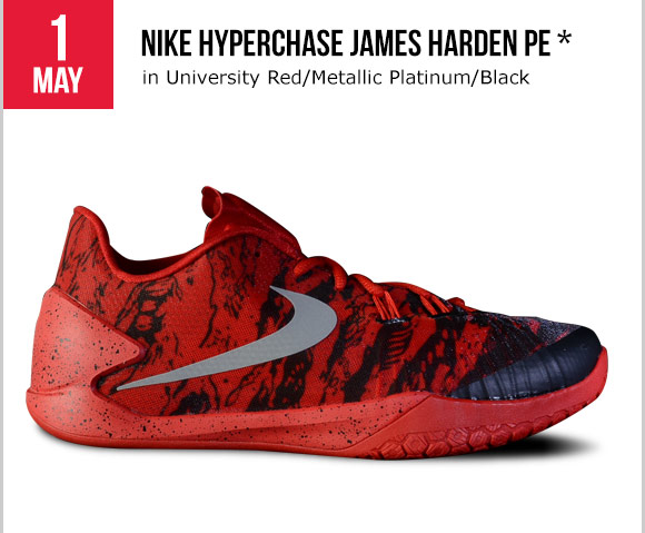 c09bbdc21e3 Foot Locker  Releasing tomorrow  Nike Hyperchase James Harden PE ...