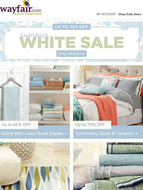 Wayfair Starts Today Up To 70 Off During Our Summer