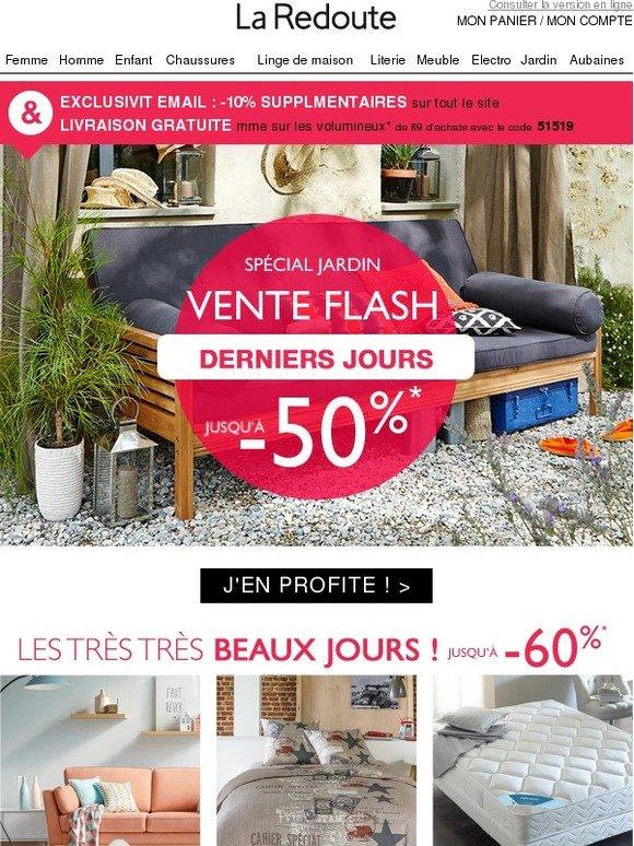 La redoute fr derniers jours vente flash jusqu 39 50 sur votre jardin - La redoute vente flash ...