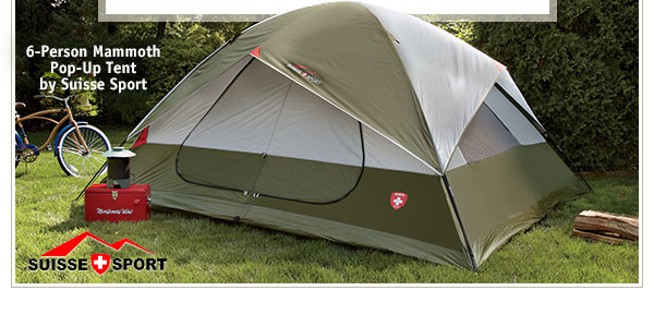 6-Person Mammoth Pop-Up Tent by Suisse Sport & Montgomery Ward: Cannonball! Dive into Backyard Fun this Summer ...