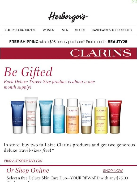 Clarins USA 39 Coupon Codes. Clarins UK 23 Coupon Codes. Clarins AU 3 Coupon Codes. Escentual 50 Coupon Codes. Adore Beauty 25 Coupon Codes. Murad 50 Coupon Codes. Healthy Hair Plus 31 Coupon Codes. Biotherm USA 49 Coupon Codes. Kiehls 21 Coupon Codes. Olay 21 Coupon Codes. Bluemercury 49 Coupon Codes. Paula's Choice 50 Coupon Codes. Burt's.