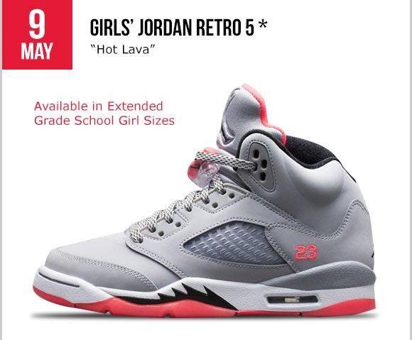 sale retailer 9ceda 64861 Foot Locker: Releasing tomorrow: Girls' Jordan Retro 5