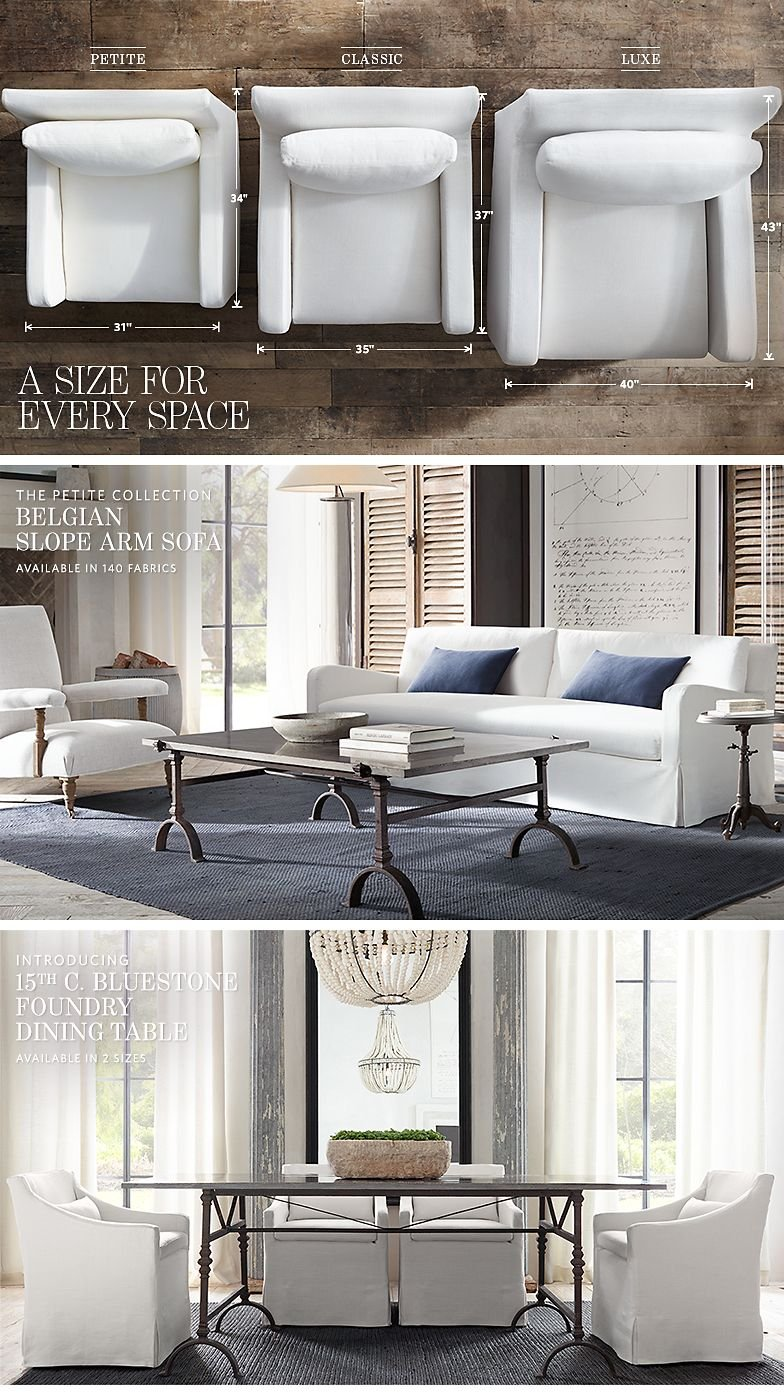 Restoration Hardware: Introducing Our 2015 Small Spaces Collection ...