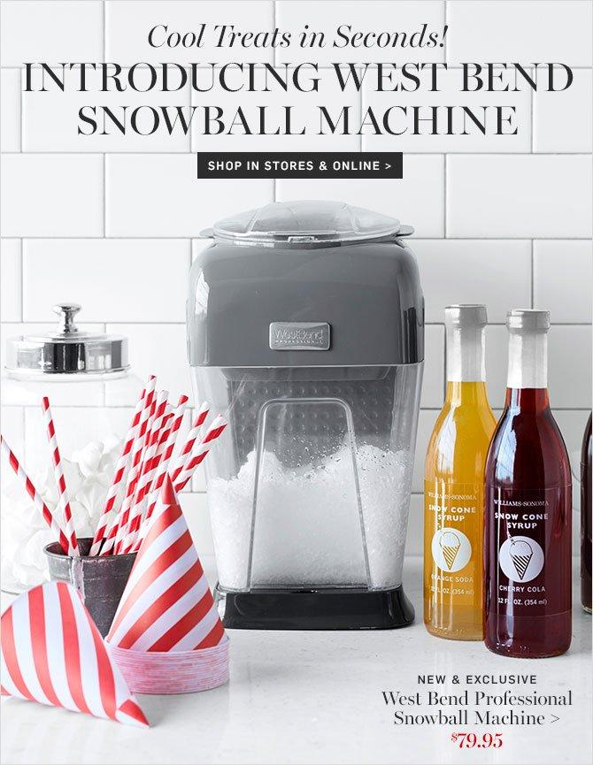 west bend platinum snowball machine