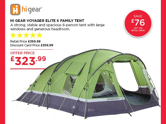 Hi Gear Voyager Elite 6  sc 1 st  Milled & Go Outdoors: 10% off ALL departments | Hi Gear Voyager Elite 6 ...