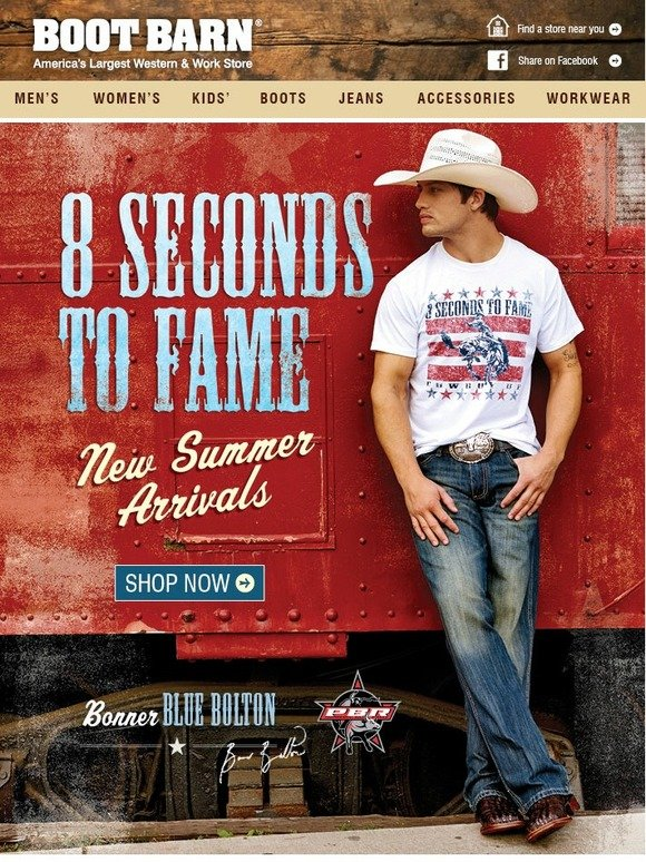 BootBarn.com: 8 Seconds To Fame - Bonner Bolton In New ...