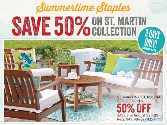 Save 50 On The St Martin Occasional Collection